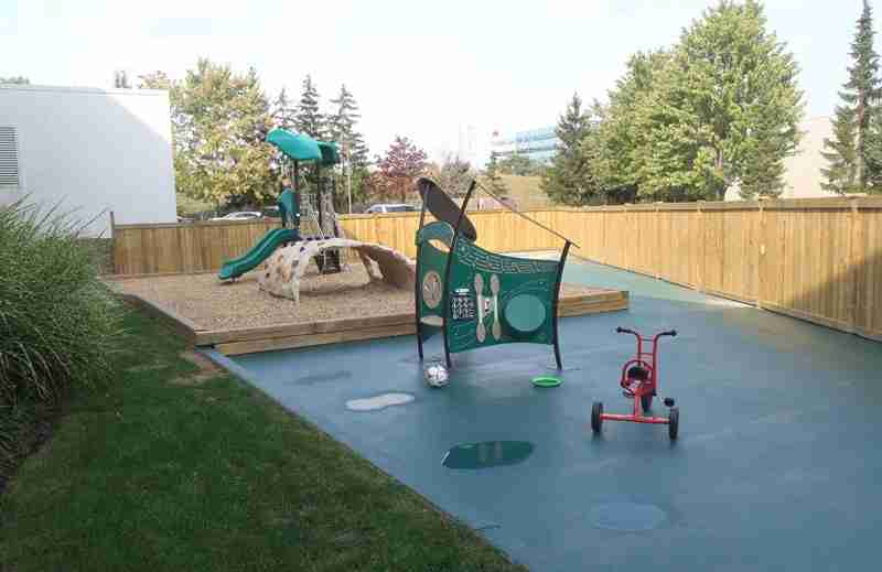Playground area for preschool and kindergarten at SimplySmart Child Care Centre