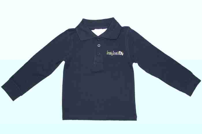 Polo Long Sleeve Navy   SimplySmart child care