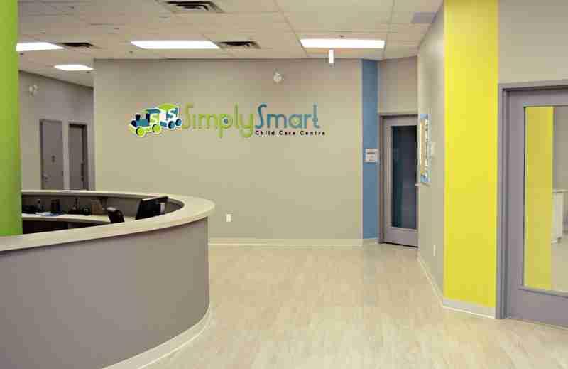 Reception area of a SimplySmart daycare location