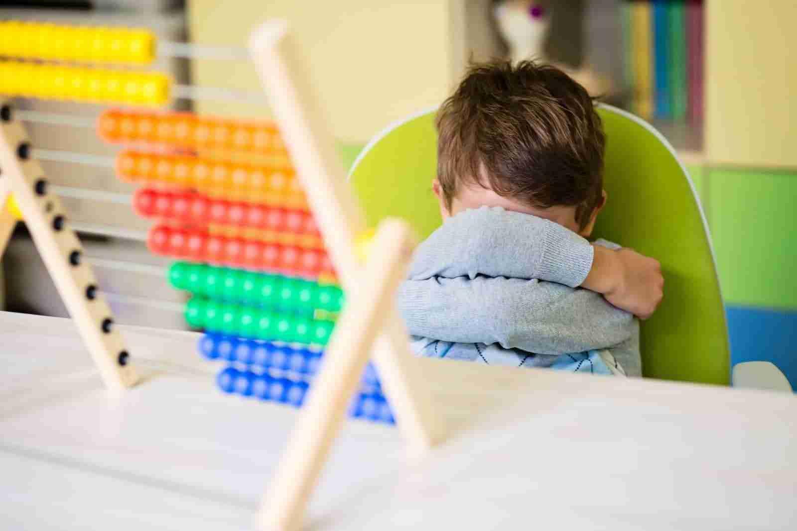 Toddler having a temper tantrum at daycare