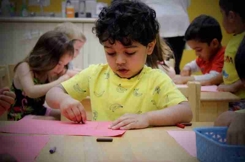 Child playing at a daycare in SimplySmart ChildCare Centre-Waterloo